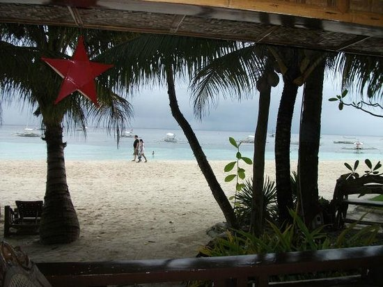 Alona Tropical Beach Resort:                   View from bungalow