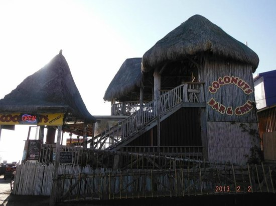 Coconuts Bar & Grill :                   Rustic, Comfortable place