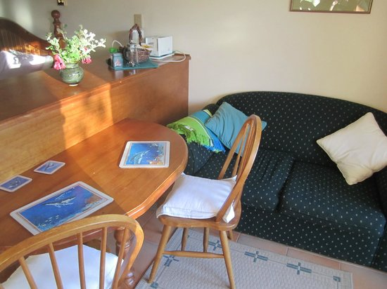 The Fig Tree : Table & sofa in the room