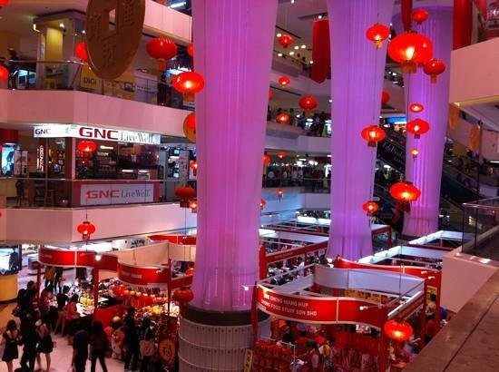 Centre Point Sabah:                   Decorations for an upcoming celebration