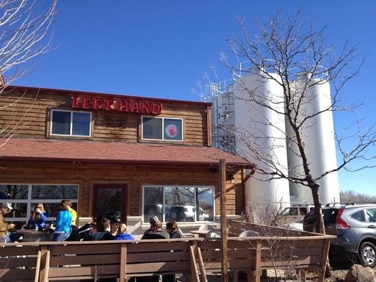 Left Hand Brewing Company:                   Perfect break during our walk!