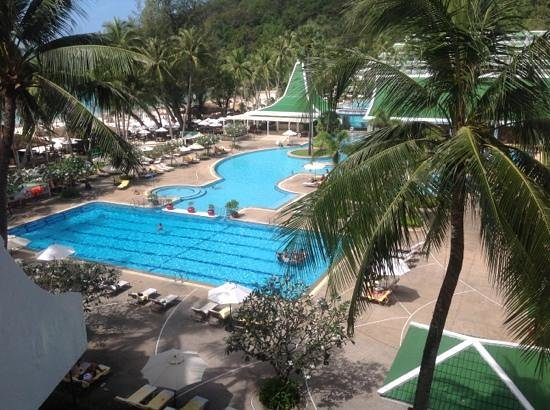 Le Meridien Phuket Beach Resort:                   view from Deluxe pool view room 472