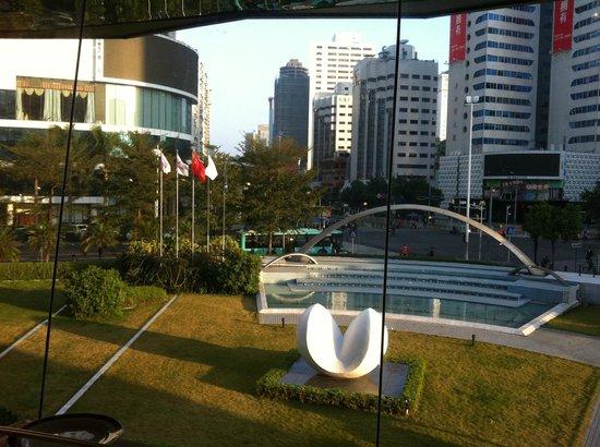 Sunshine Hotel Shenzhen:                   Vista do Café da Manha
