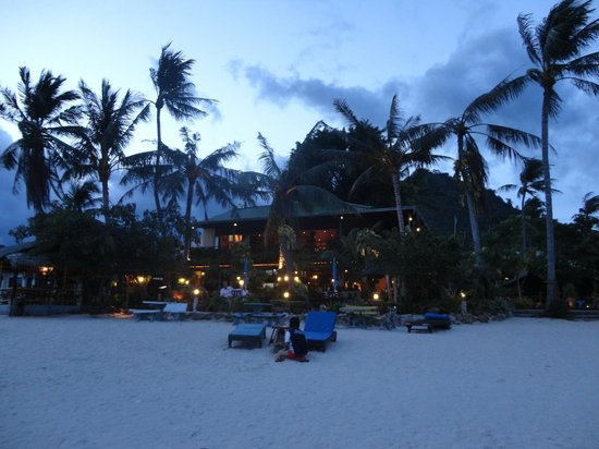 Spa Resort:                   View of hotel from beach