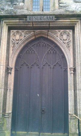 St. Andrew's Church:                   Symbolic 'Resurgam' plaque above north door.