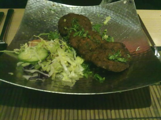 Sanskrit Contemporary Indian Restaurant:                   Aloo Tikki for starters