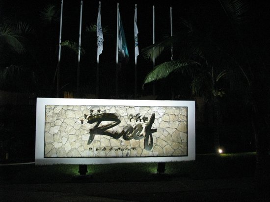The Reef Playacar:                   Out side front of resort
