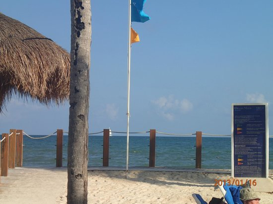 Ocean Maya Royale:                   One of the few unobstructed views of the beach from my lounge chair