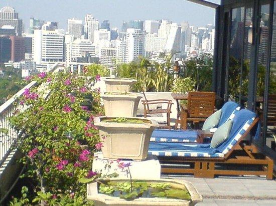 Dusit Thani Bangkok:                                                       terasse panoramique