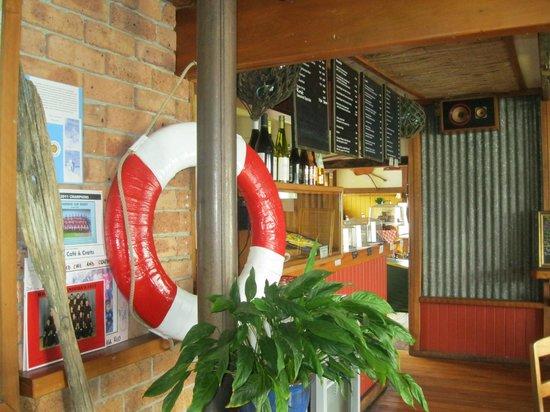 Boatshed Cafe:                   Inside
