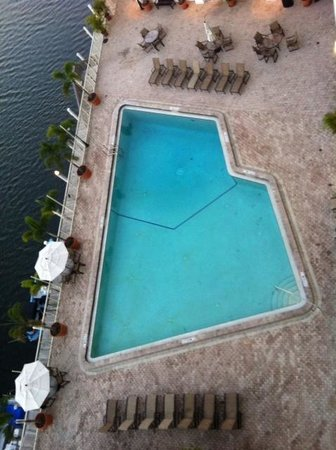 Sheraton Tampa Riverwalk Hotel: birdseye view of pool-from 6th fl lounge
