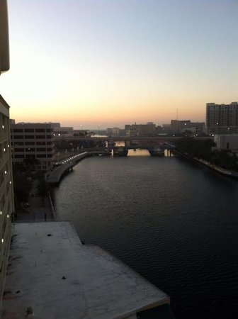 ‪‪Sheraton Tampa Riverwalk Hotel‬: Looking South, River at Dawn‬