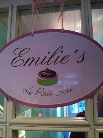 Emilie's Le Petit Joli:                   Front door