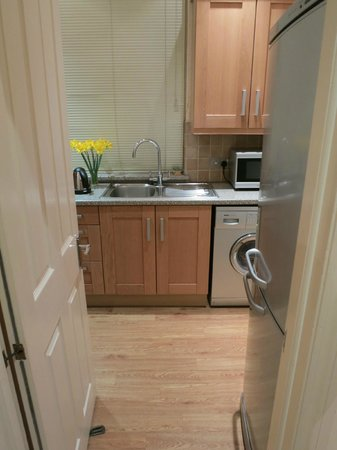 جيسموند دين:                   Kitchen and laundry area                 
