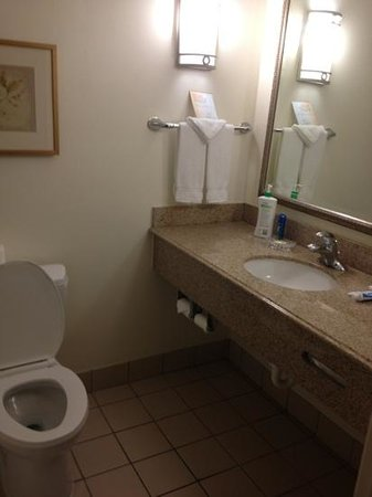 Azure Hotel & Suites Ontario Airport:                   bathroom