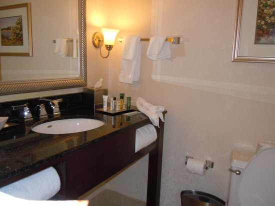 Hilton Woodcliff Lake: Bathroom