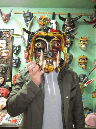 Casa de la Cuesta:                   Some examples of Bill's mask collection