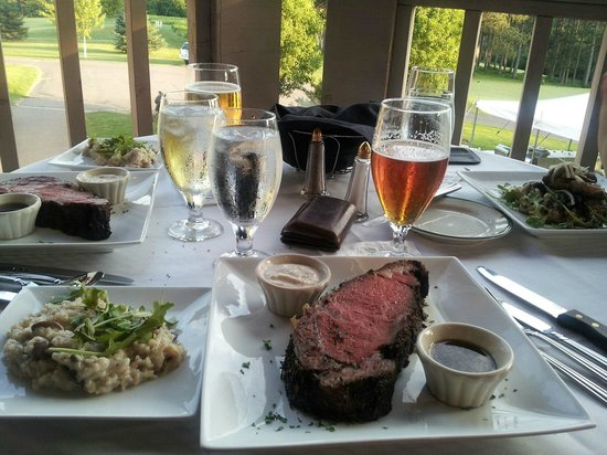 The Hills:                   Outside dining, Saturday special Prime Rib.