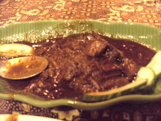 Restaurant Borneo:                                     Beef Rendang as served