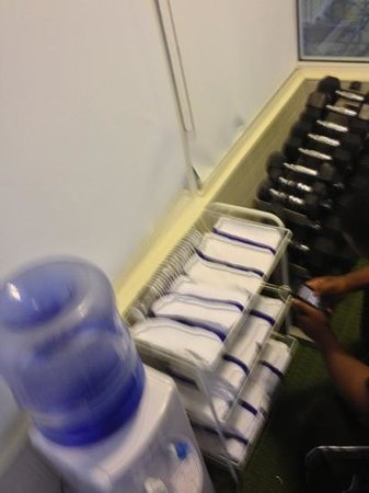 Fairfield Inn & Suites Sandusky: free weights towels in workout room