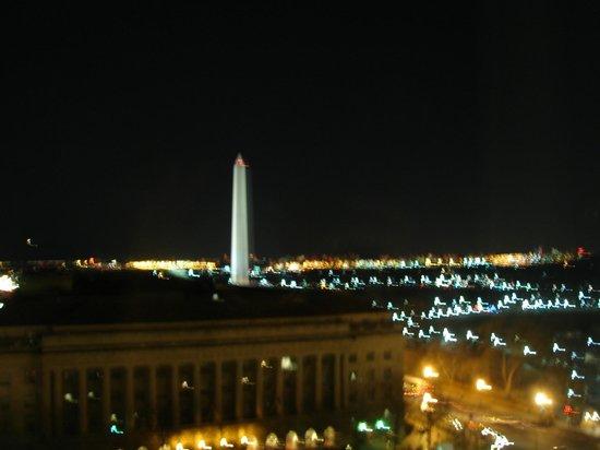 Willard InterContinental Washington:                   Washington Monument at night from the room