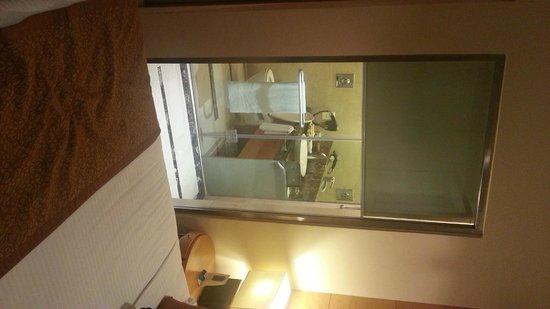 Radisson Blu Marina Connaught Place: Baño con vista al sommier