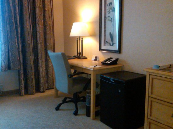 The Inn at Charles Town:                   Desk Area and Microfridge