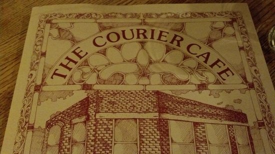 The Courier Cafe: Menu Cover Logo