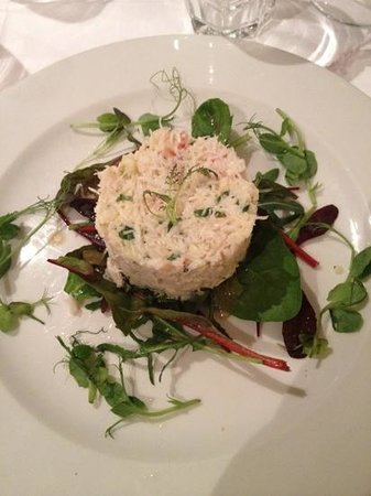 Conservatory Restaurant - Exeter: crab