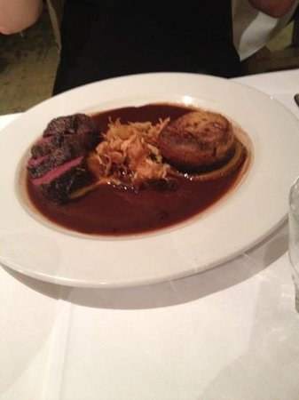 Conservatory Restaurant - Exeter: venison with chocolate sauce