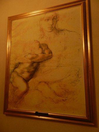 Porta Faenza:                   Decori nella camera