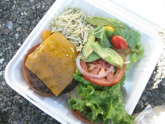 Asilomar Conference Grounds: Lunch - burger and salad