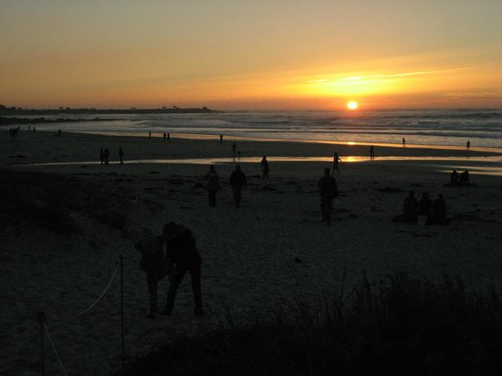 Asilomar Conference Grounds : Sunset over the Pacific ocean