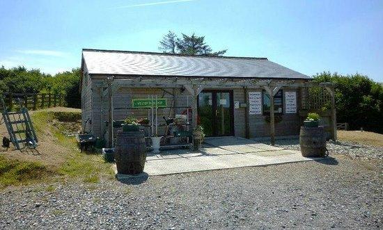 Hilltop Farm Shop:                                     The exterior of Hill Top Farm Shop