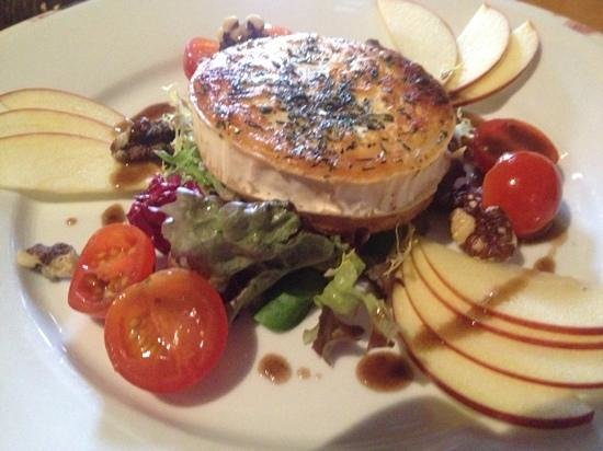 The Prince of Wales:                                     baked goats cheese