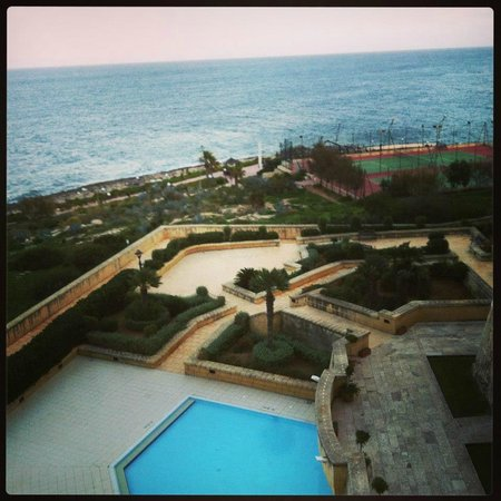 Corinthia Hotel St. George's Bay:                                     View from balcony
