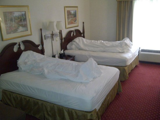Wingate by Wyndham Charlotte Airport South/ I-77  Tyvola :                   Having fun with the maids upon checkout. Extremely comfortable bedding and bed