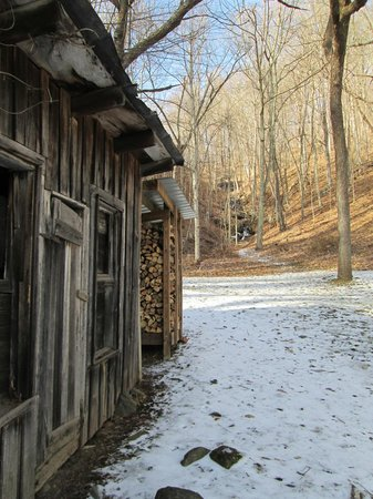 Lovill House Inn :                   Wood shed on the grounds