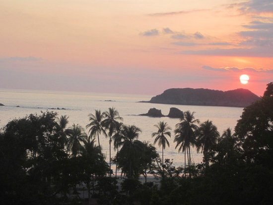 Hotel San Bada: view of the sunset from the sixth floor