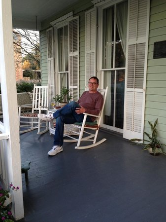 Barrow House Inn :                                     A little Southern porch sitting!