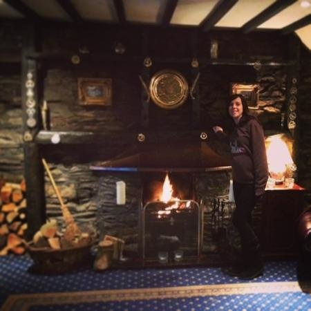 Damson Dene Hotel:                                     The welcoming roaring fire