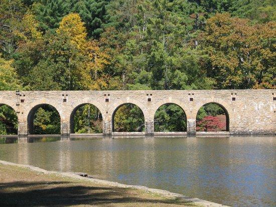 Cumberland Mountain State Park:                   Scenic bridgeway