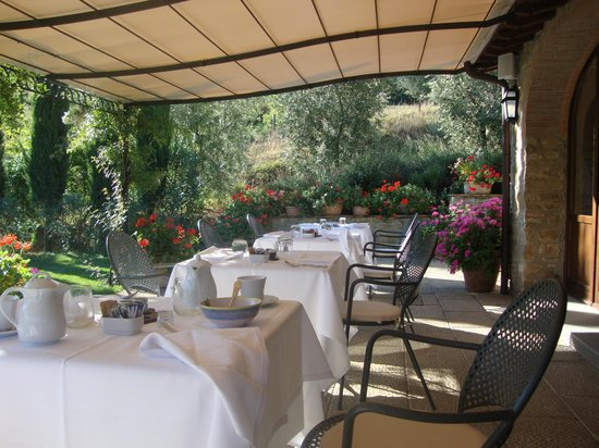 Castiglion Fiorentino, Italië:                                     Dining patio where breakfast is served every morning