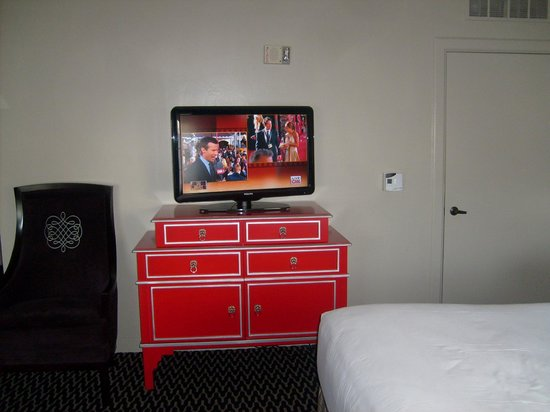 Kimpton Sir Francis Drake Hotel:                   The red dresser