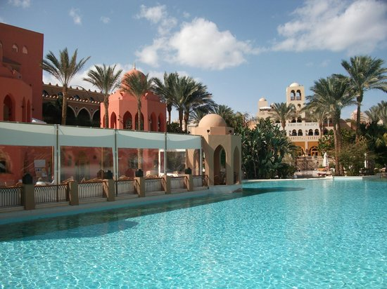 The Makadi Palace Hotel:                   Pool and Joker Bar