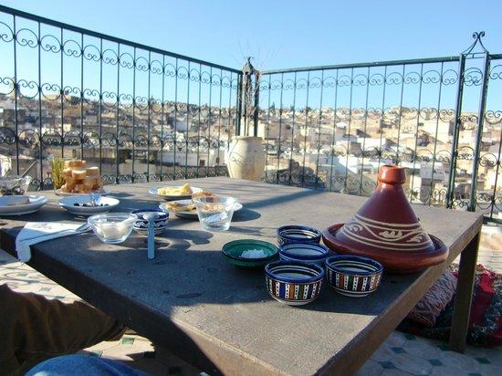 Dar Sienna:                   La fantastica terrazza... con la colazione