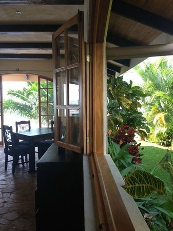 El Castillo Hotel:                   Indoor Outdoor dining at El Castillo