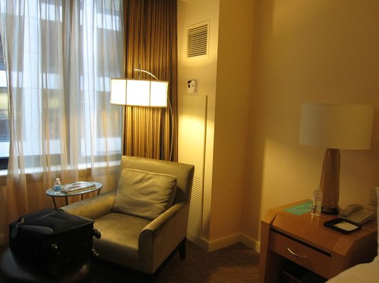 The Gwen, a Luxury Collection Hotel, Chicago:                   Comfy chair by window