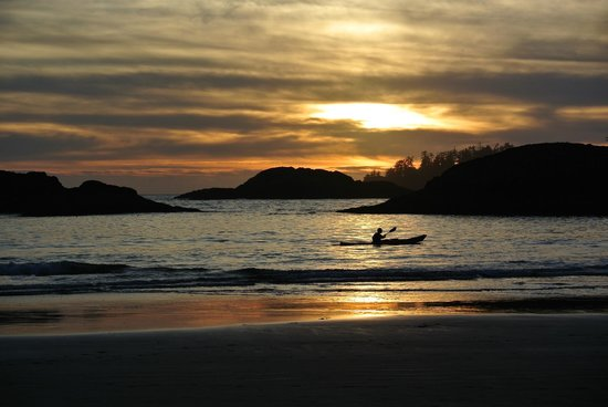 Ocean Village Beach Resort:                   sunset kayaker