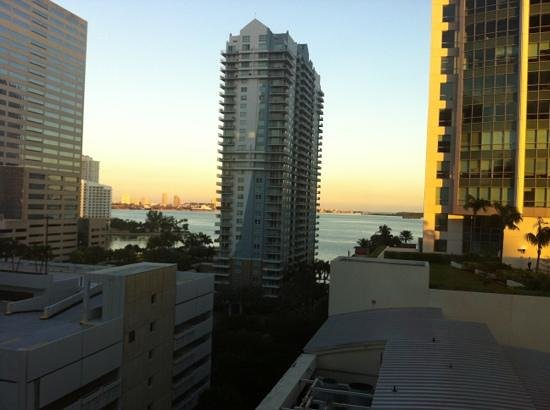 JW Marriott Miami:                   view from our corner room